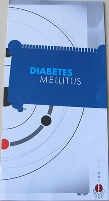 Folder Educativo de Preven��o:   Diabetes Mellitus - 50 unidades