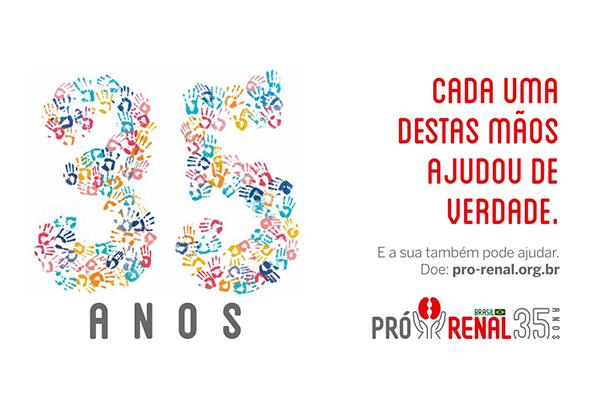 Ópus Múltipla cria campanha comemorativa de 35 anos da Fundação Pró-Renal